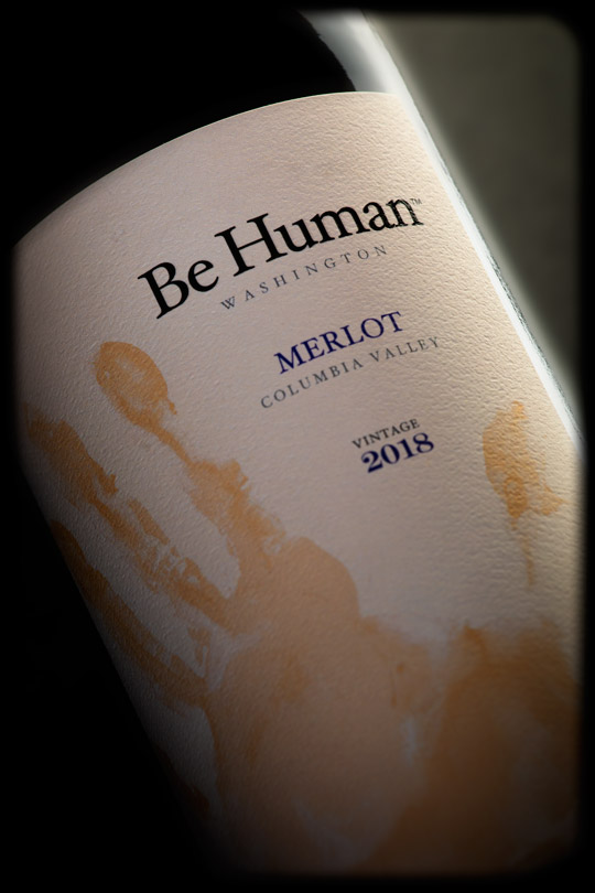 Be Human 2018 Merlot - Columbia Valley AVA - Be Human Wines