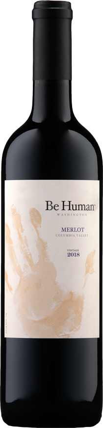 Be Human 2018 Merlot - Red Mountain Wines - Aquilini Family Wines